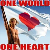 Markus Rothkranz mit Fahne Herz